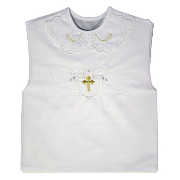 10032biela Košieľka na krst