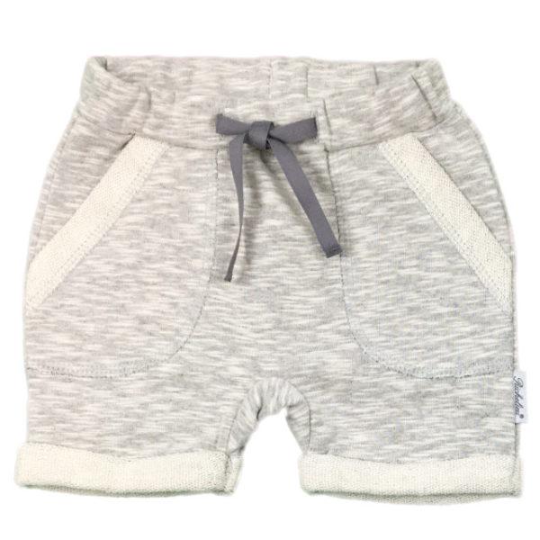 1335 kratke nohavice siva