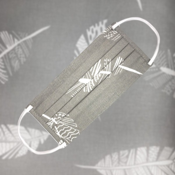 1999 E sivé pierka 1999E Bavlnené ochranné rúško s kapsičkou